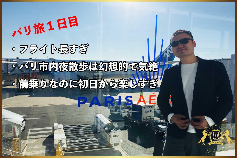 【フランスパリ旅1日目】静岡三島から羽田・CDG空港・パリ市内への移動(フライト・タクシー・散歩)まとめ